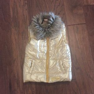 Juicy couture gold puffer vest
